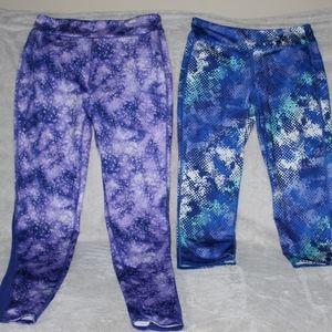 Old Navy Lot of 2 Girl Leggings XXL 16 Blue Purple